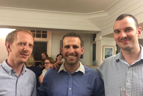 From left: Ed Clarke, Neil Delaney, Dave Jarvis